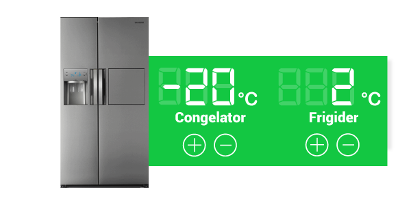 control temperatura frigider side by side